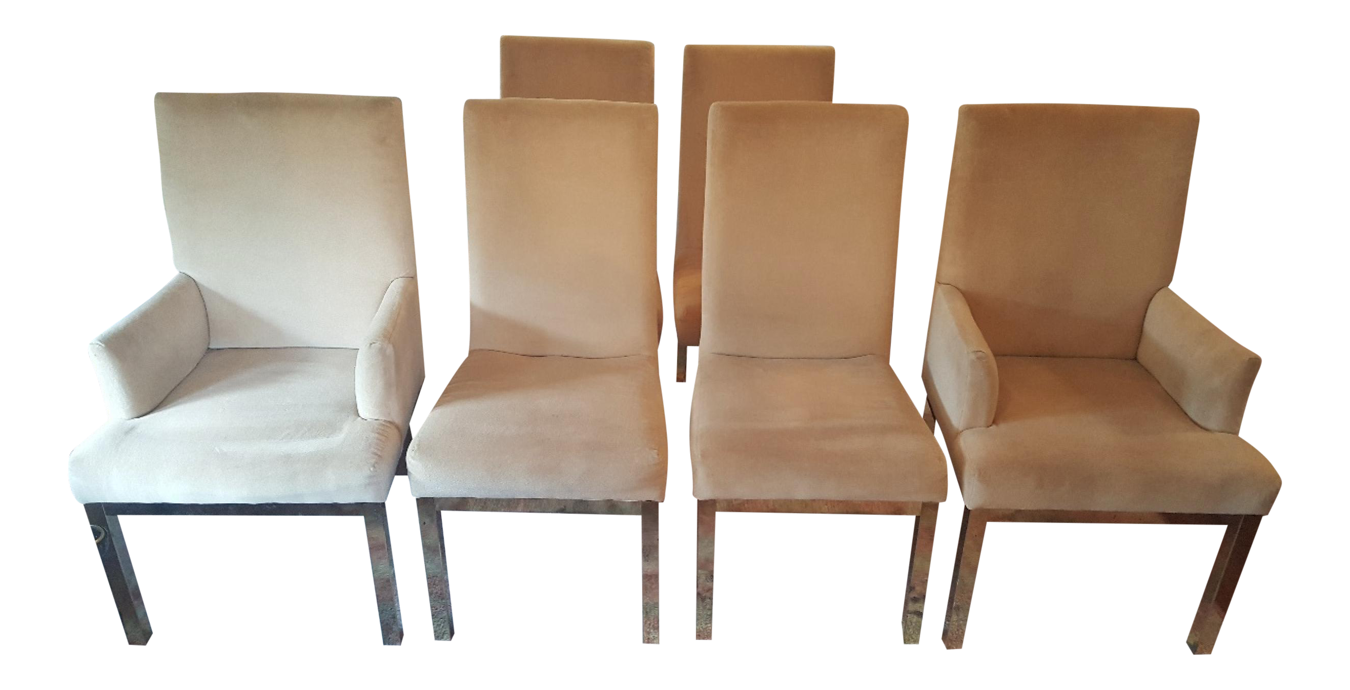 milo baughman dining chairs chair rentals charlotte nc set of 6 on chairish com timeless
