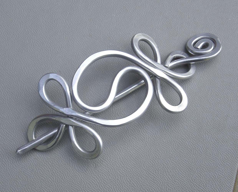Yin Yang Aluminum Shawl Pin, Yinyang Hair Pin, Scarf Pin, Barrette ...