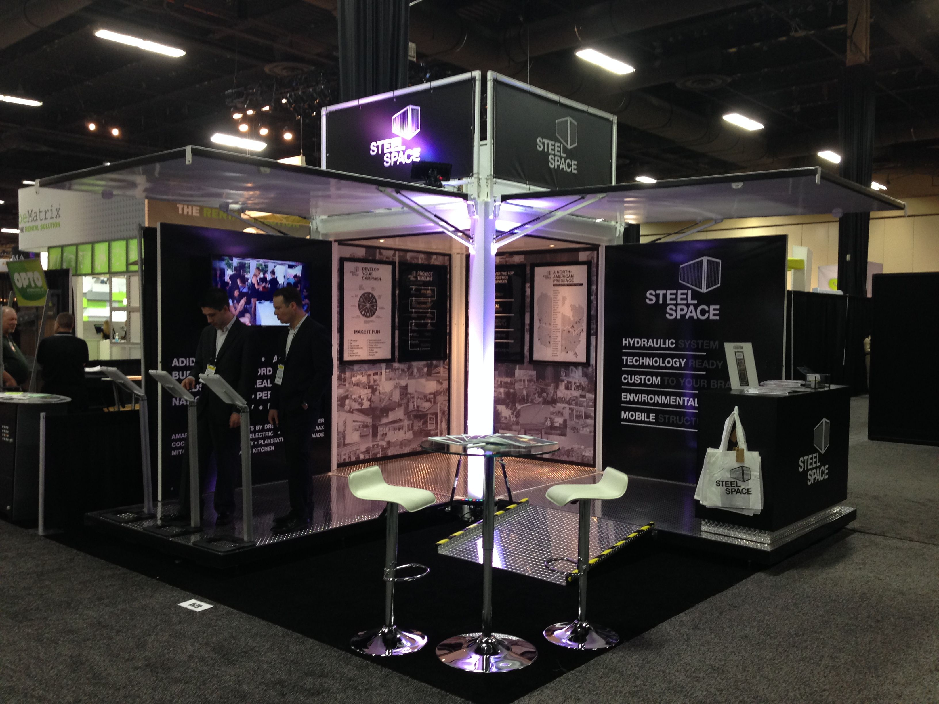 Steel Space Booth Lets Discover Experiential Marketing