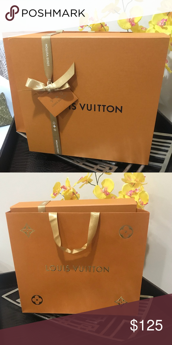 Authentic holiday Louis Vuitton gift bag and box 💯 AUTHENTIC Louis Vuitton  holiday gift bag and box. My new speedy 35 came in box. 7c473a26e4ba9