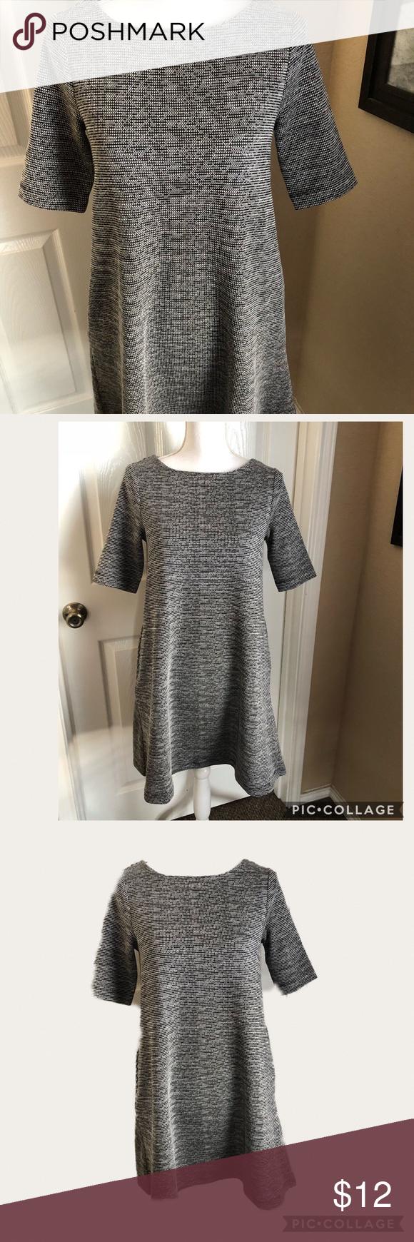 Paraphrase Sleeved Grey A Line Work Chic Dres Clothe Design Dress