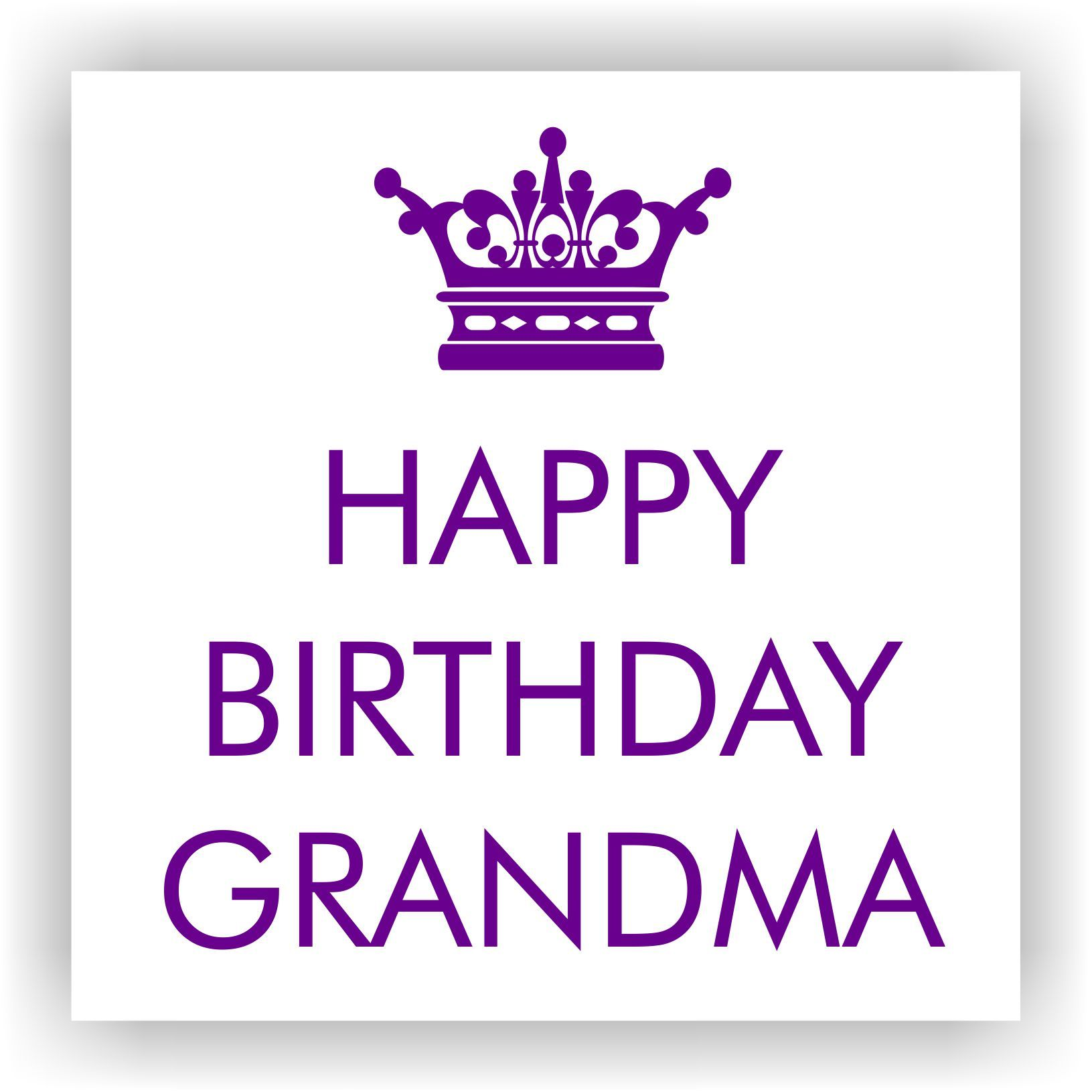 info queenb Happy Birthday Grandma charity greeting card Just