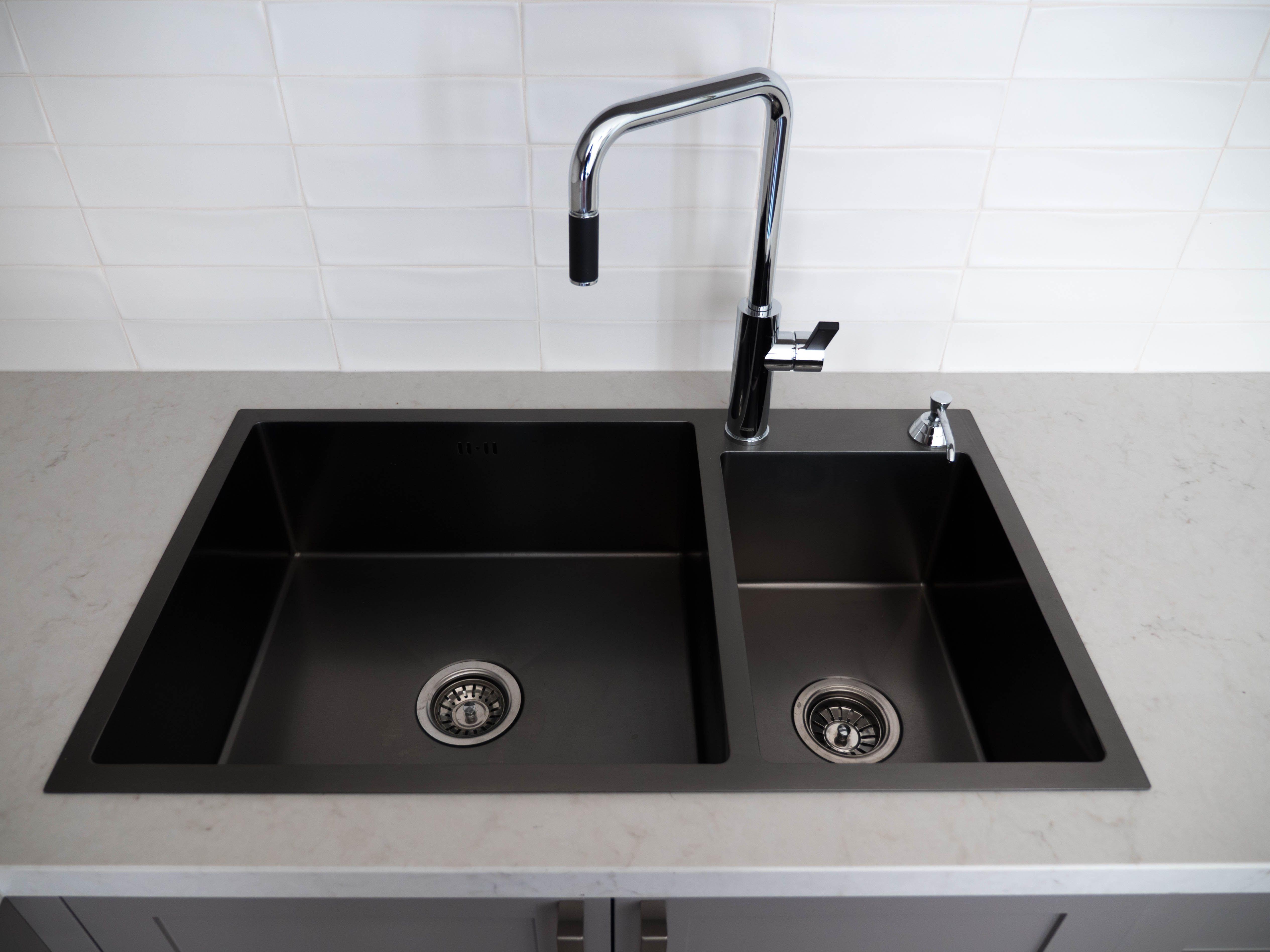Graphite Black Stainless Steel Sink Graphite Black Stainless