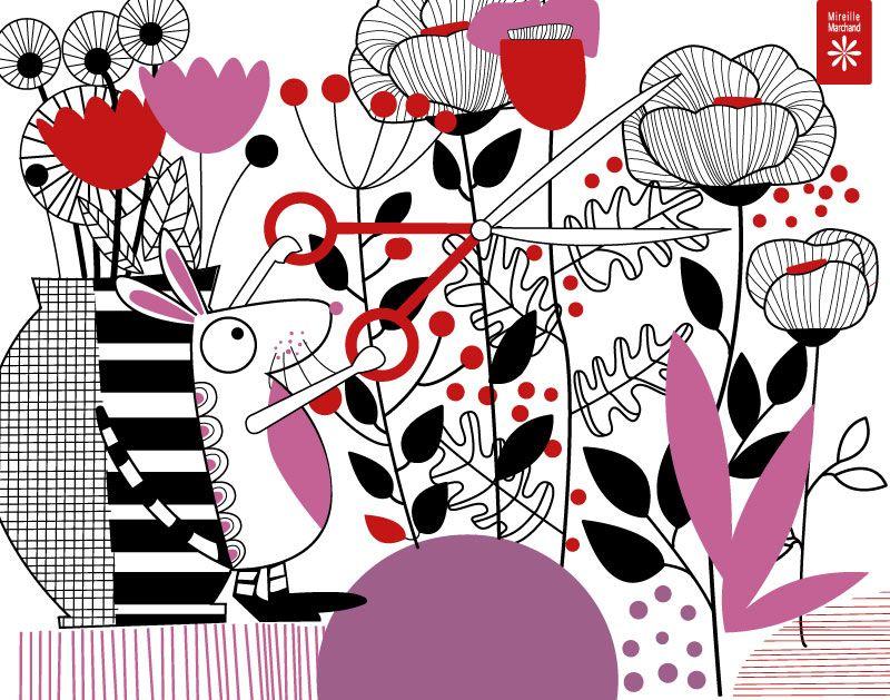 Souris aux ciseaux by Mireille Marchand (mireillemarchand.com)