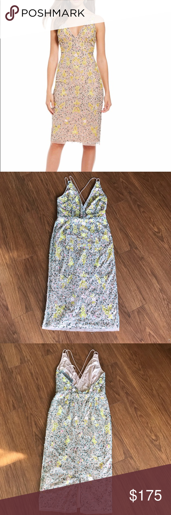 1da37eb5d2f Gianni Bini Madi Sequin Floral Party Dress -New