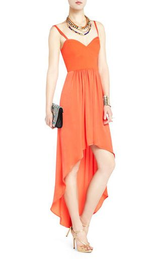 BCBG Annamae Bustier-Style Evening Dress Orange High Low [BCBG Annamae Bustier-Style Evening Dress] - $160.00 : Cheap herve leger and BCBG dresses on sale