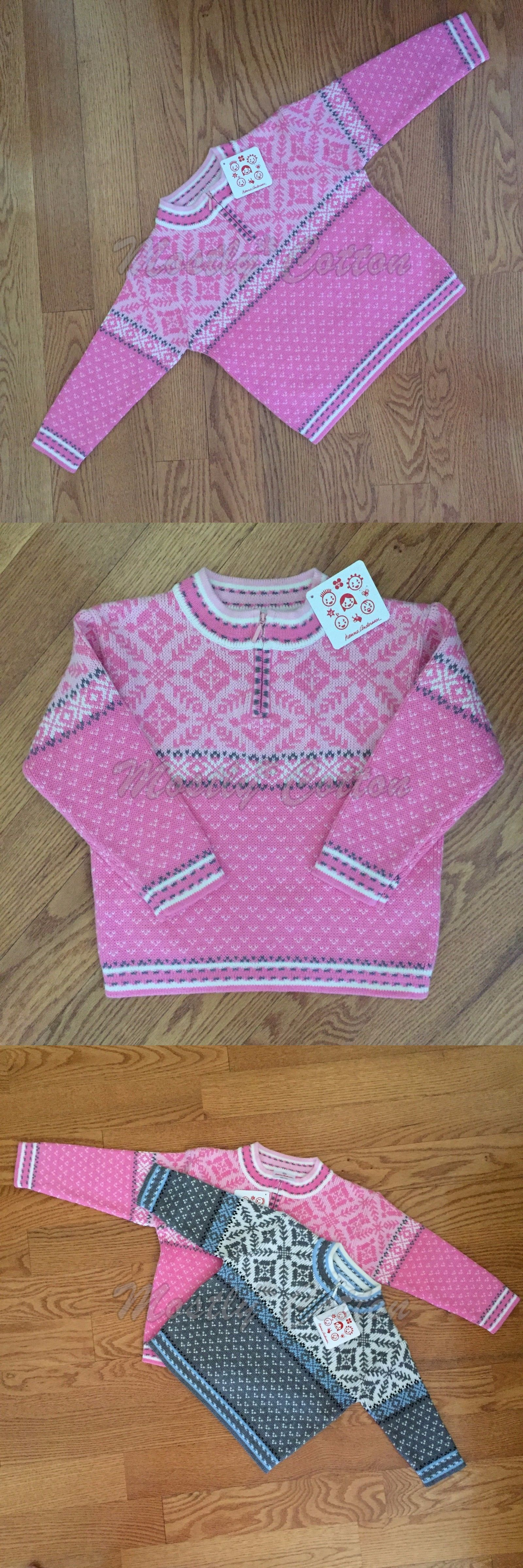Sweaters 147216: Nwt 100 Hanna Andersson Cotton Holiday Pink ...
