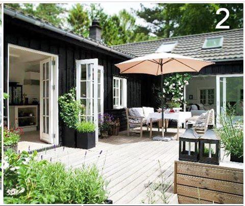 Heute gesehen bei madogbolig und f r nachahmenswert zauberhaft befunden h user terrassen - Skandinavisches gartenhaus ...
