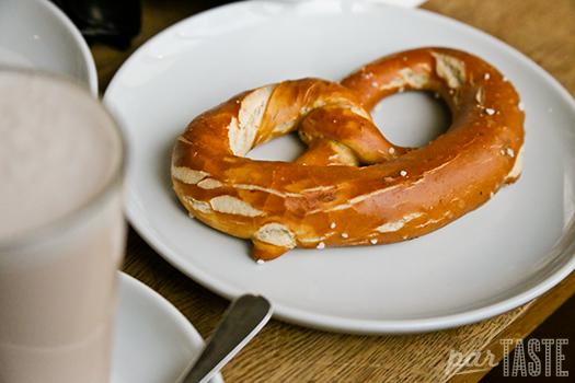 Laugenbretzel: the classic pretzle, freshly baked at Ziet Für Brot in Berlin, Germany
