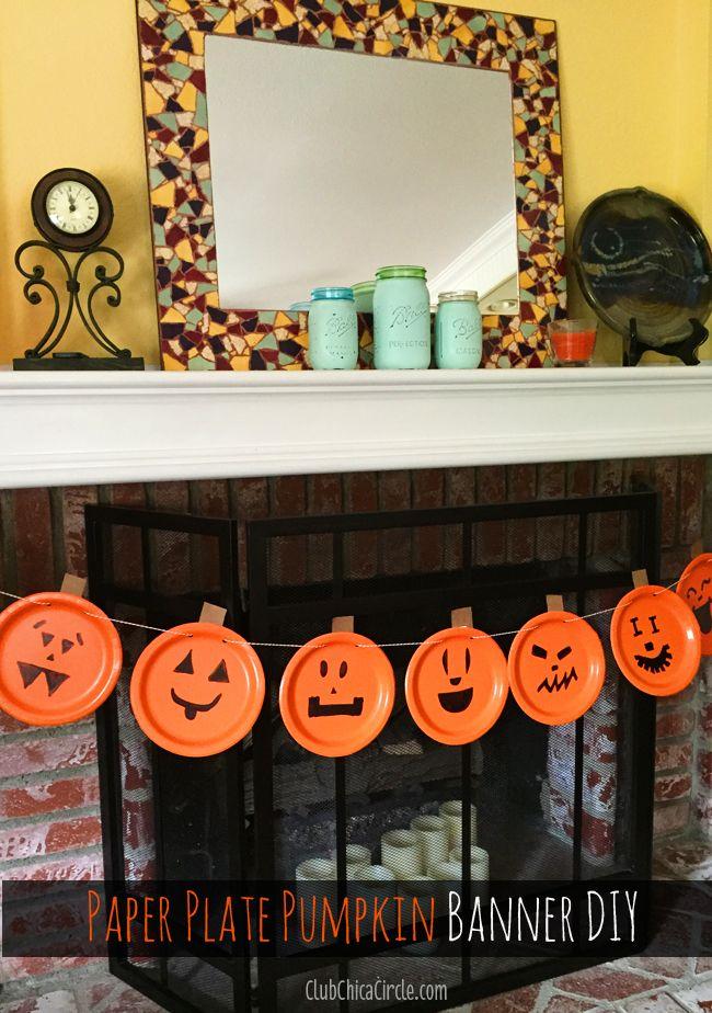 How to make a pumpkin party banner @clubchicacircle Halloween Fun - fun halloween party ideas