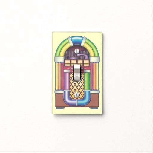 Light Switch Cover Vintage Jukebox GameRoom