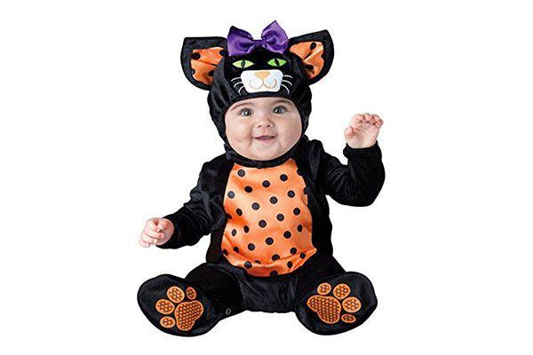 580714b74d718 Vestito di Halloween da gatto per neonati