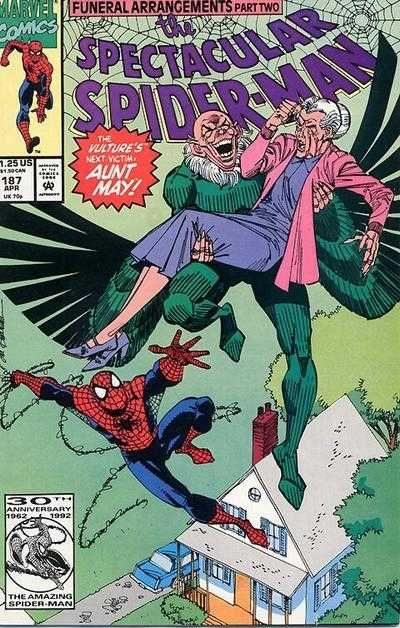 The Spectacular Spider-Man #187 - Funeral Arrangements, Part Two: Desperate Measures