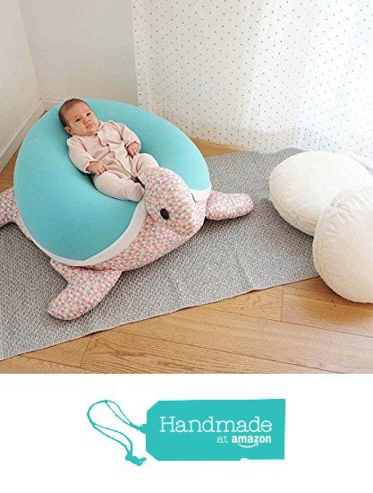 Kids Baby Bean Bag Floor Pillow Giant Animal Shaped Turtle Bean Bag Chair Turquoise With Triangles With An Internal Pillow For Easy Wash And Maintenan Bebe