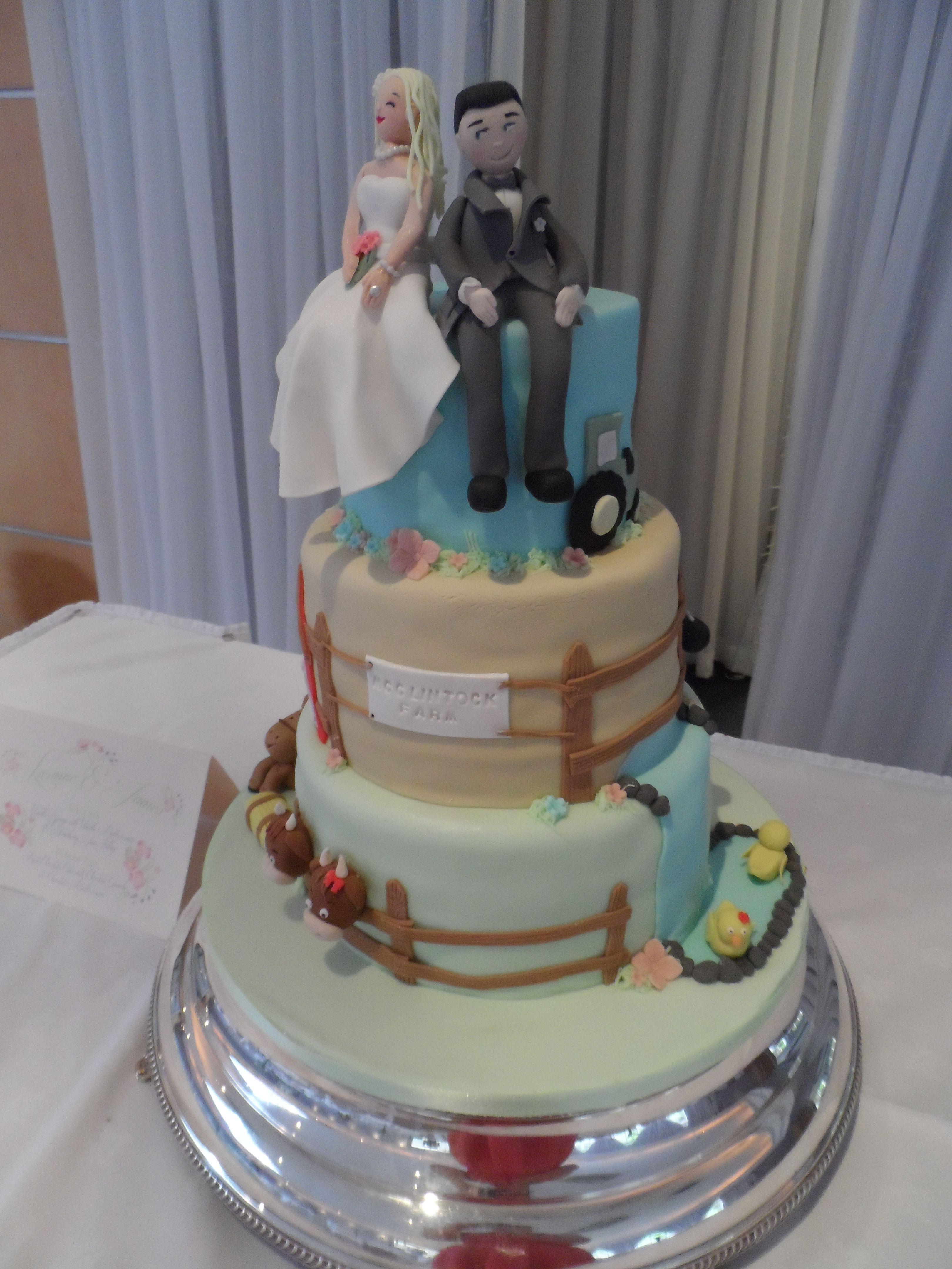 Farm Themed Wedding Cake Dreamy Cake Creations Pinterest