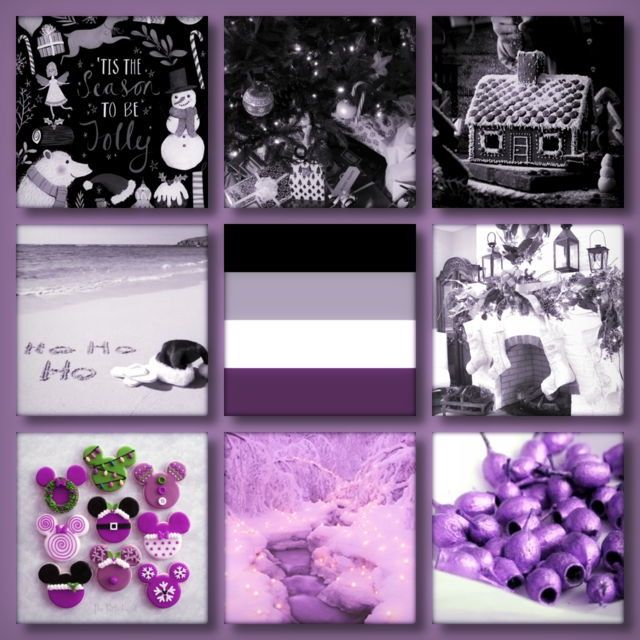 asexual christmas aesthetic made by lgbt aesthetics on tumblr credit goes to them