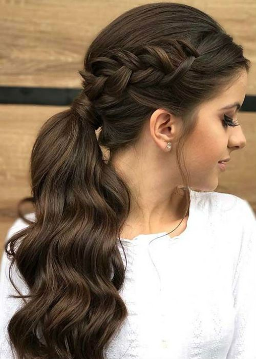 Exceptional Side Braid Pony Hairstyles 2019 For Teenage Girls Braids For Long Hair Elegant Ponytail Braided Hairstyles Updo