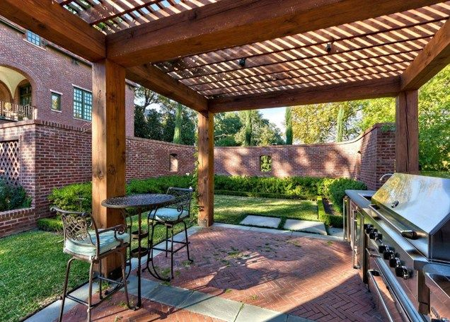 Superb Wood Shade Structure, Grill Pergola And Patio Cover Harold Leidner  Landscape Architects Carrollton, ...