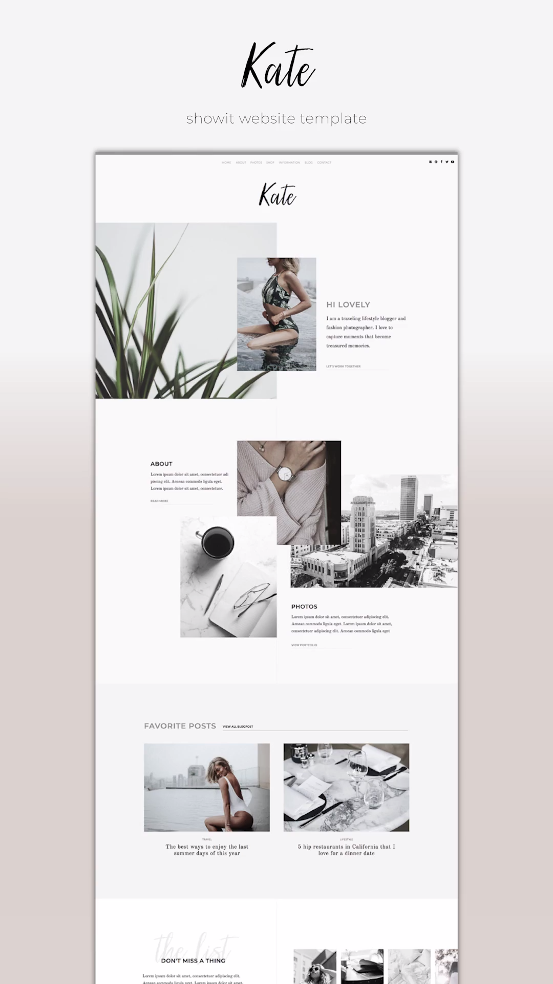 Designer-made Showit Website Template. Quickly launch a highly stylish website for a small budget. #showit #website #template #webdesign #branding #business #creative #professional #modern #minimalst #feminine #top #best