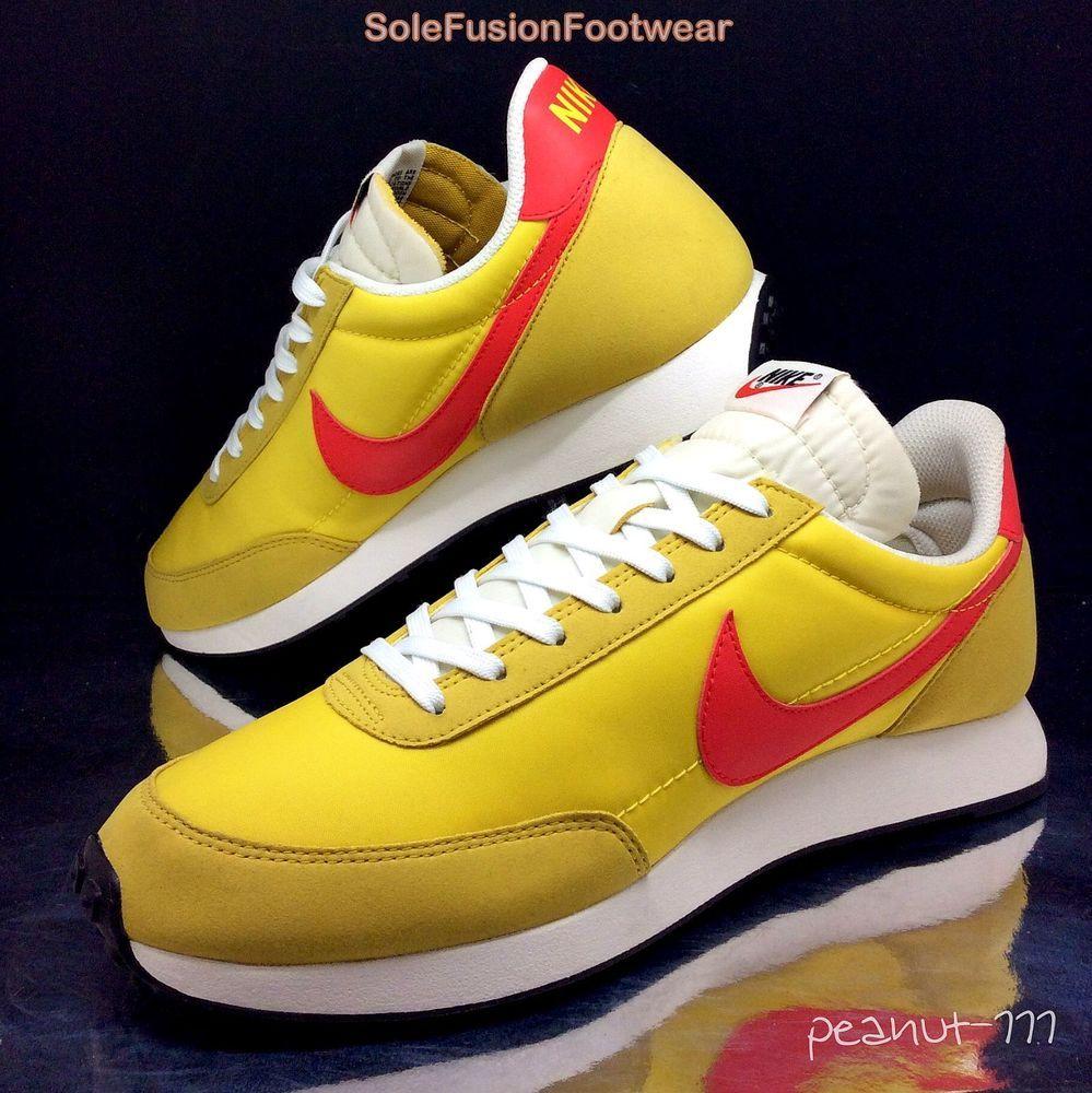 buy popular b8faa e7ae2 Mens Nike Air Tailwind Running Trainers Yellow sz 9 Waffle Sneakers US 10  EU 44  eBay
