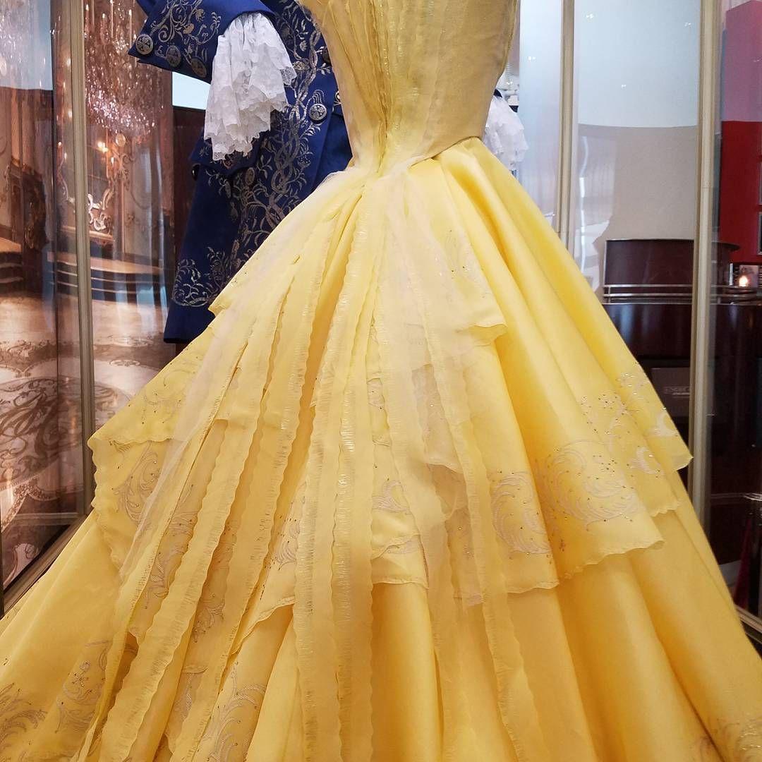 The Back Of Belle's Dress #Belle #beautyandthebeast