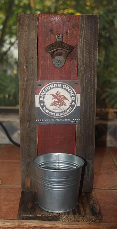 Man Cave Wall Bottle Opener Beer Opener Bar Art Rustic