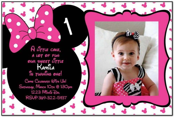 Minnie mouse 1st birthday invitation aaliyah first birthday minnie mouse 1st birthday invitation filmwisefo