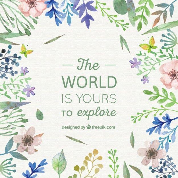 Frase floral del Mundo | Descargar Vectores gratis | Drawings ...