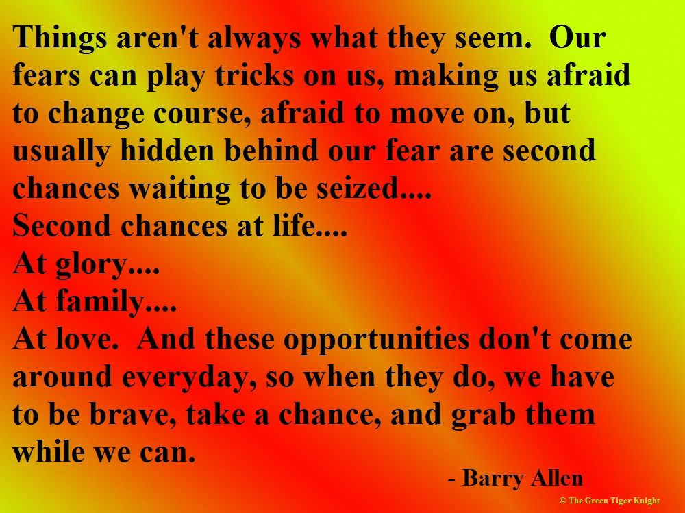 Things Aren't Always What They Seem. Our Fears Can Play
