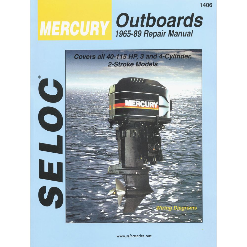 Seloc Service Manual Mercury Outboards 3 4cyl 1965 89 Boat Parts For Less