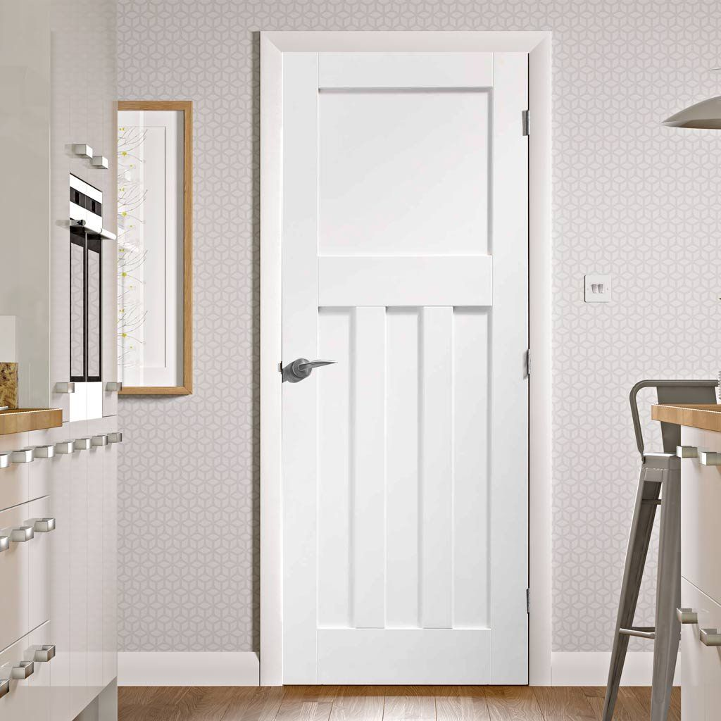 Dx 1930 39 s white primed panel door doors internal doors for 1930s style door handles