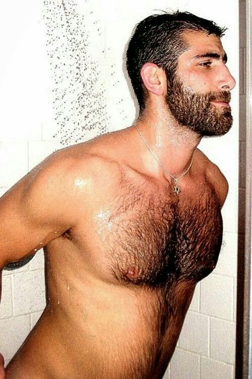 Gay hairy shower but