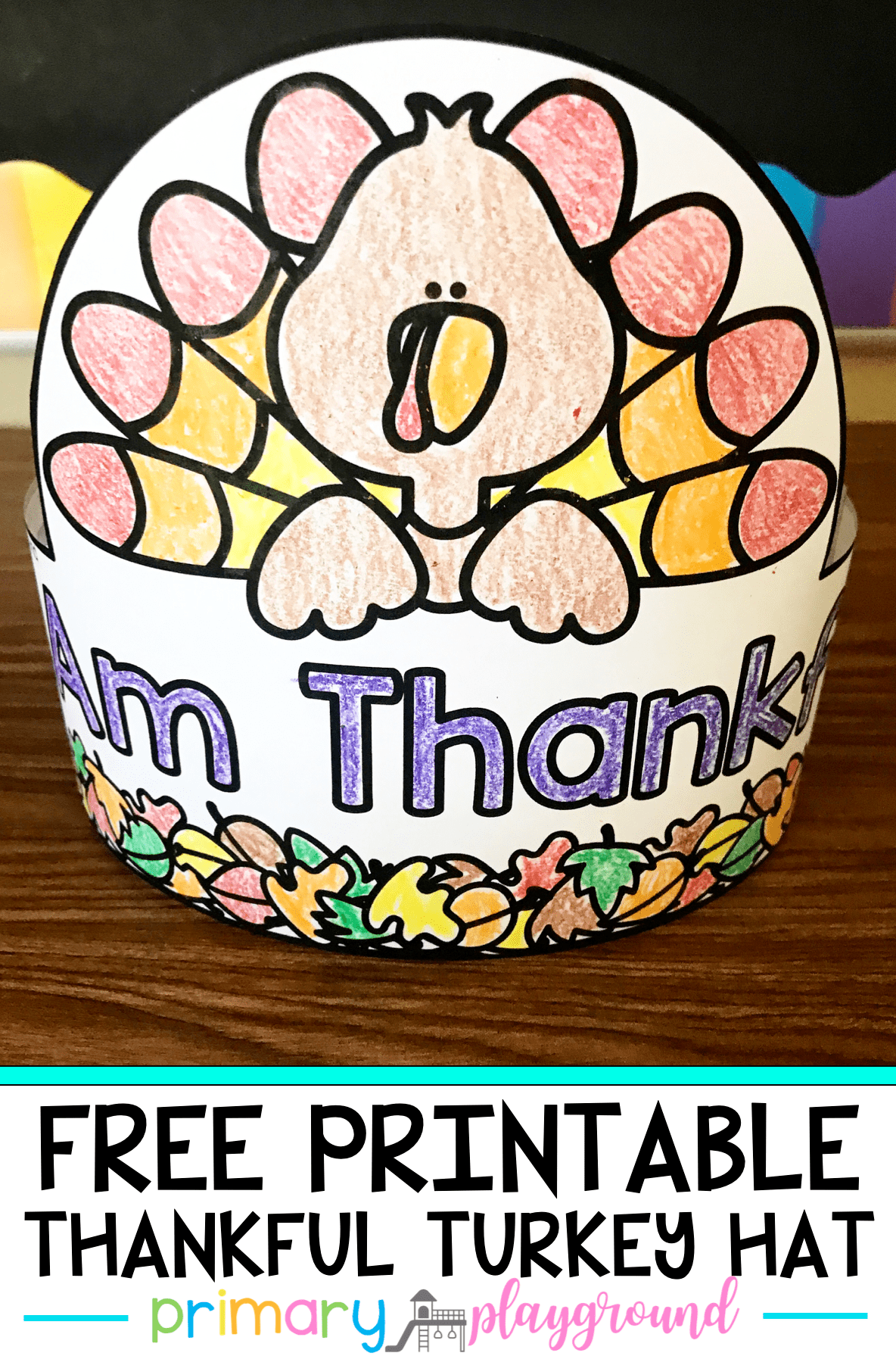 Teaching kids to be thankful can be tricky. We share some books and videos that will help teach them what it means to be thankful and then they can create their very own thankful turkey hat to wear!  #thankful #turkeyhat #thankfulhat #kindergartenthanksgiving