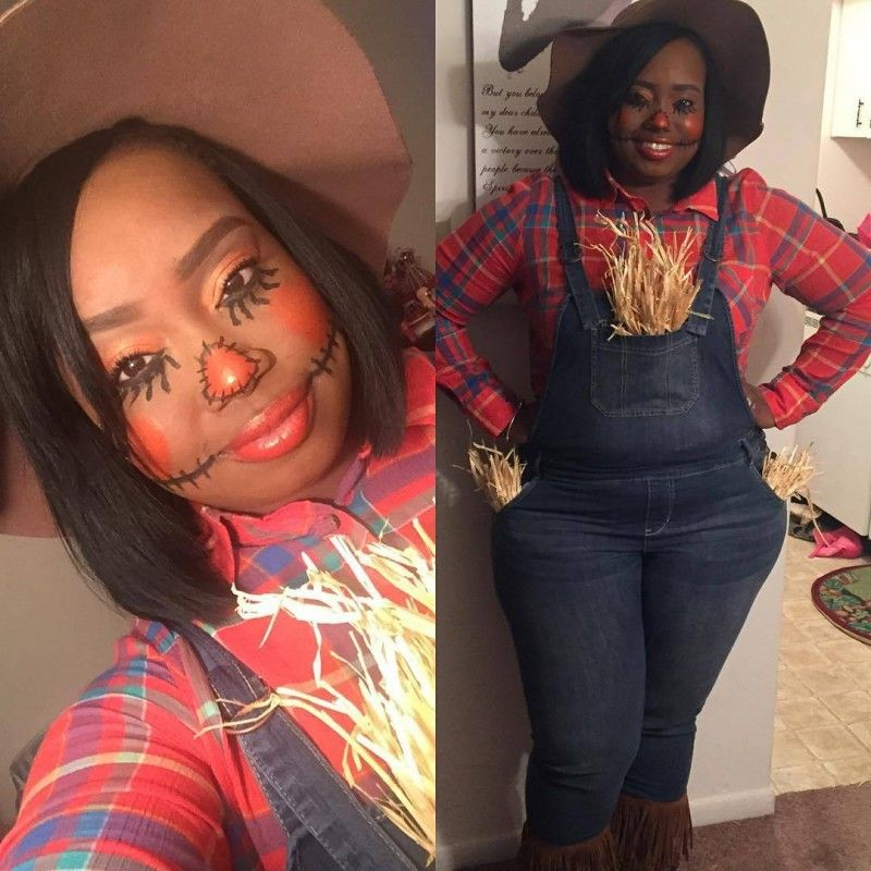 d507b325296 15 Plus Size Halloween Costumes that WOWED Us- Tiffany The Plus Size Fashion  Slayer as a Scarecrow