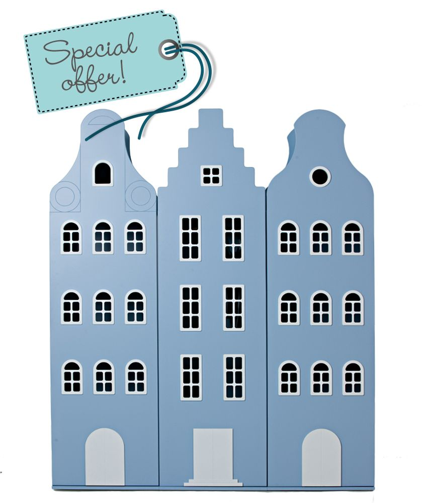 Special offer! A city in the bedroom. Inspired by the architecture of Dutch houses.