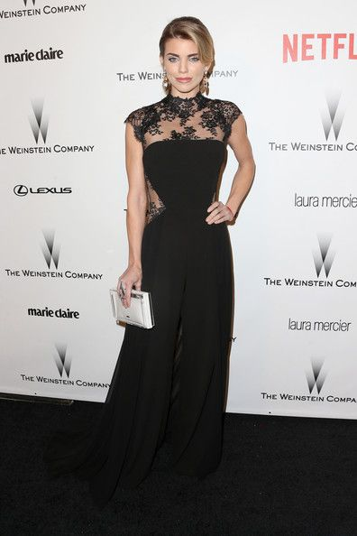 AnnaLynne McCord Wearing GEMY MAALOUF in Weinstein Company and Netflix Golden Globes Party