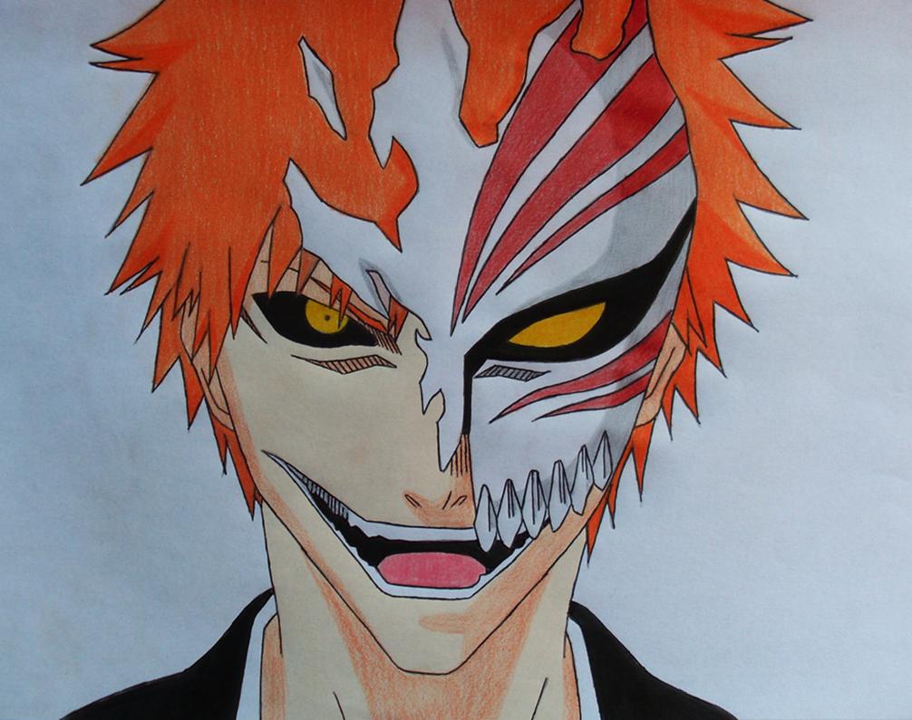 Ichigo Hallow Mask By Amaterasu 93 Deviantart Com On Deviantart Bleach Drawing Bleach Anime Bleach Tattoo