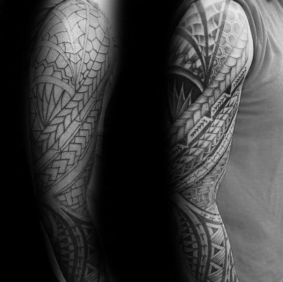 Full Arm Sleeve Tribal Tattoo Designs Valoblogicom