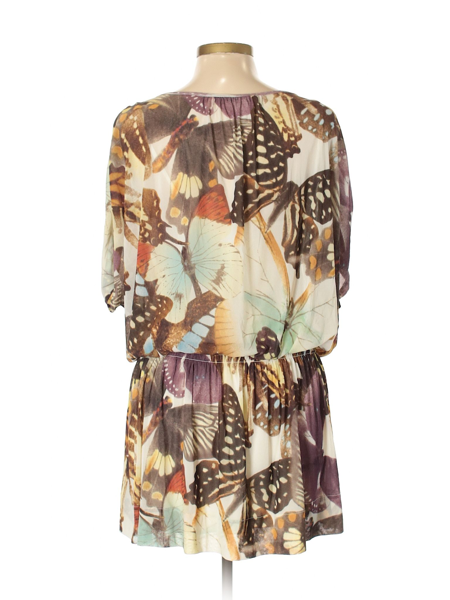 a36a18fb4 Vivienne Tam Casual Dress: Size 12.00 Ivory Women's Dresses - $93.99