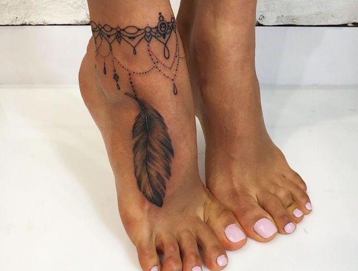 tatouage bracelet cheville le tattoo la cha ne j. Black Bedroom Furniture Sets. Home Design Ideas