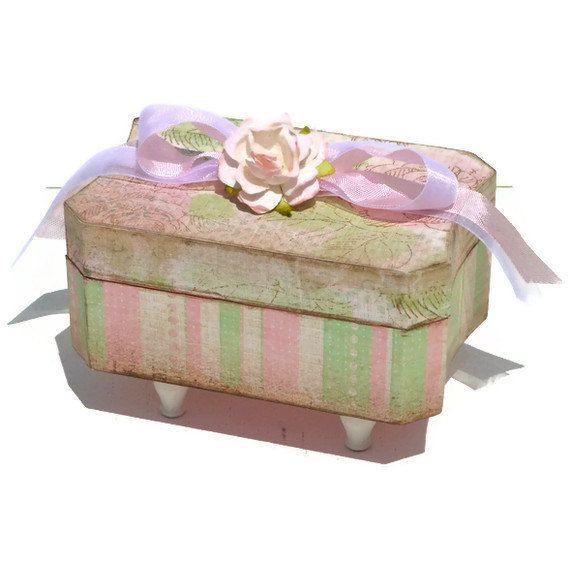 Paper Decorative Boxes Decorative Trinket Box Treasure Boxtheshabbyboxboutique