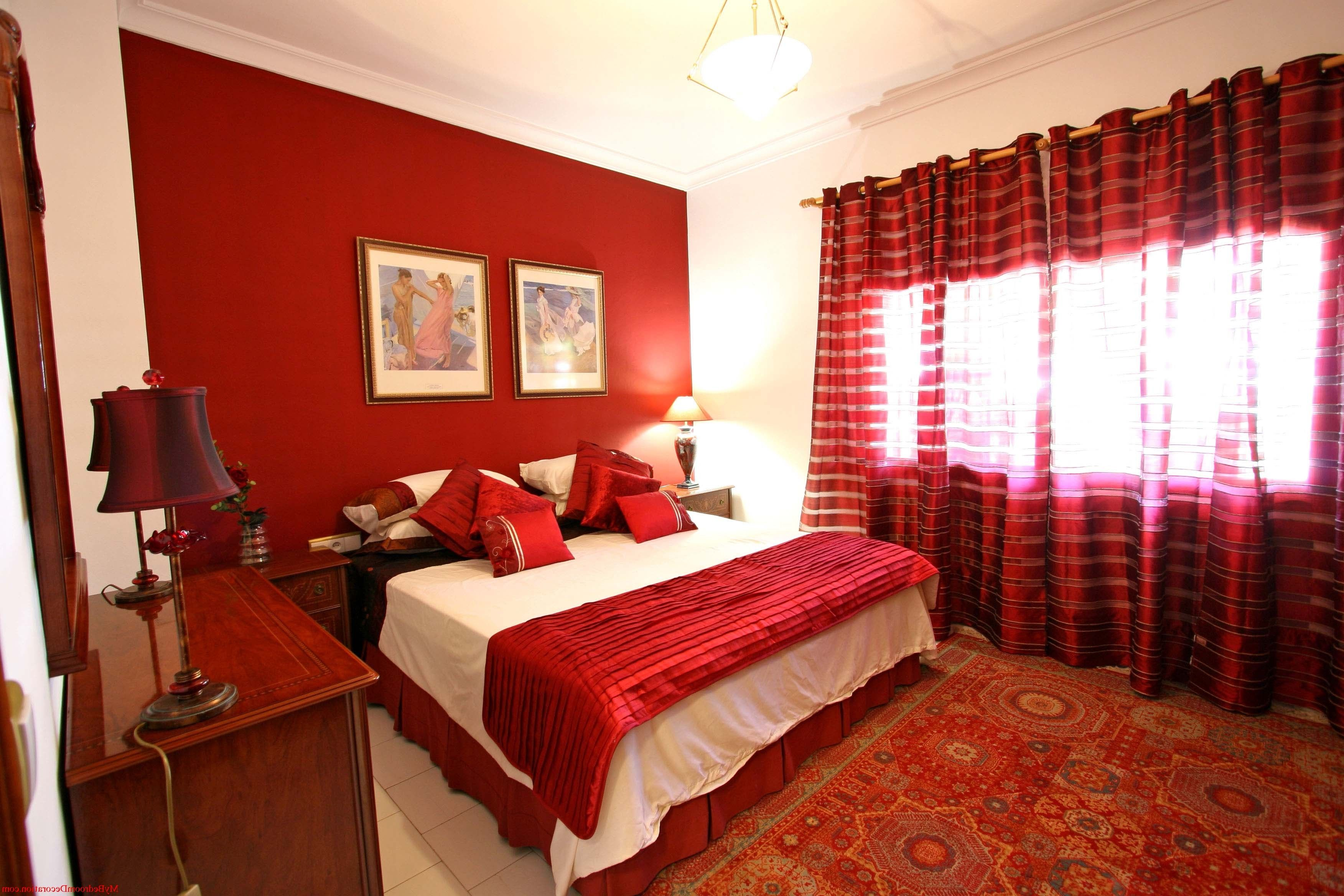 Exciting Bright Colored Room Ideas with Modern Style Furniture Ideas   Remarkable Bright Colored Room Ideas Romantic And Stylish Bedroom In Red  And White. Romantic Bedroom Decoration And Design For Couple With Red Theme