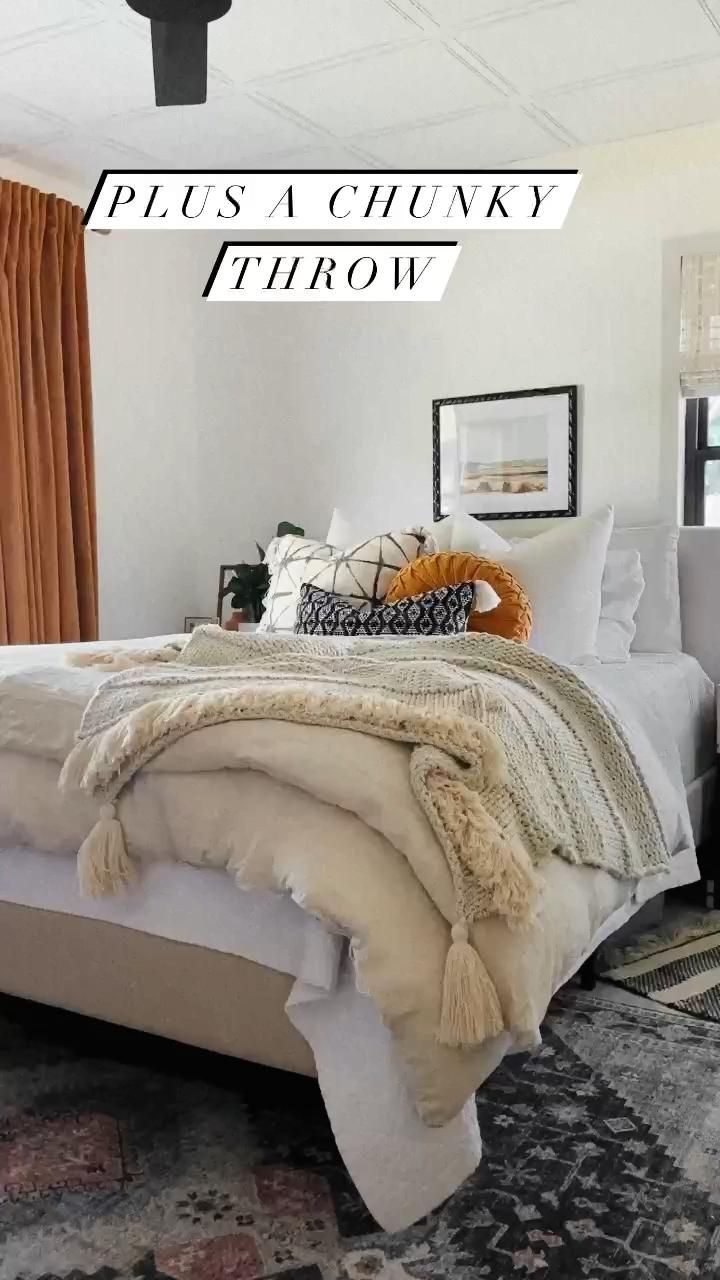 Guide to Fluffy Bedding + Our New Master Bedding