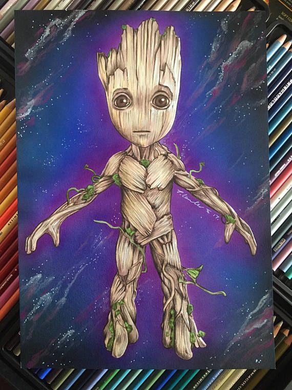 5D Diamante Pintura Groot de guardianes de la galaxia Kit