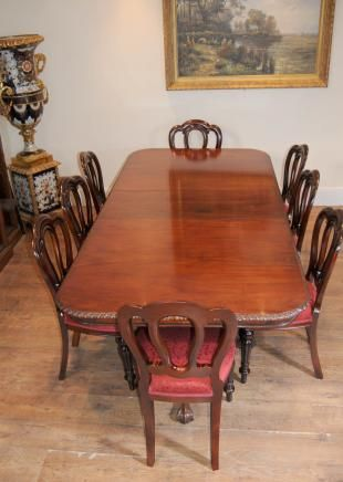 Chippendale Table & Victorian Dining Chairs Set  Kitchen Brilliant Chippendale Dining Room Set Design Ideas