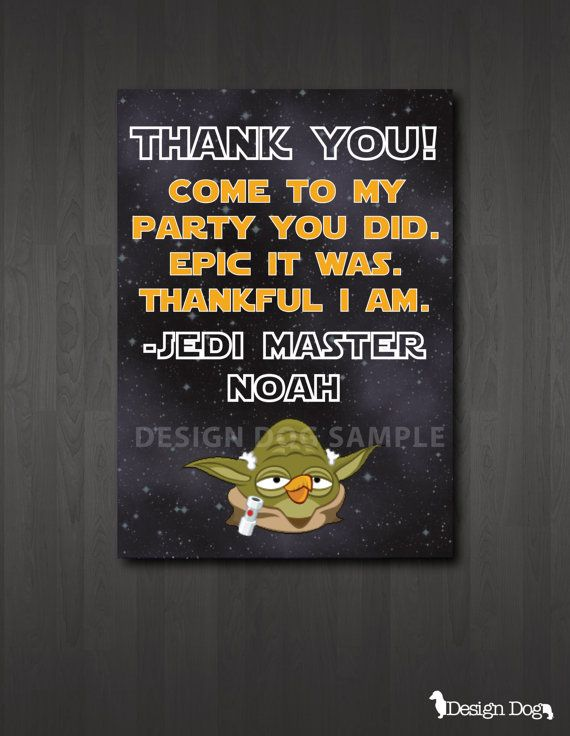 Star Wars Angry Birds Thank You Card. We will be sending these to Jordan's guests!