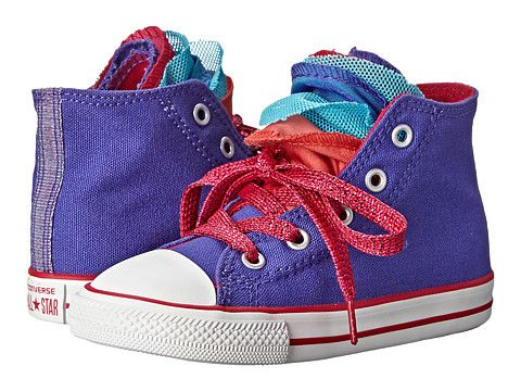 1a39f262ad49 Converse Kids Chuck Taylor® All Star® Party Hi (Infant Toddler) Periwinkle Berry  Pink Blush - Zappos.com Free Shipping BOTH Ways