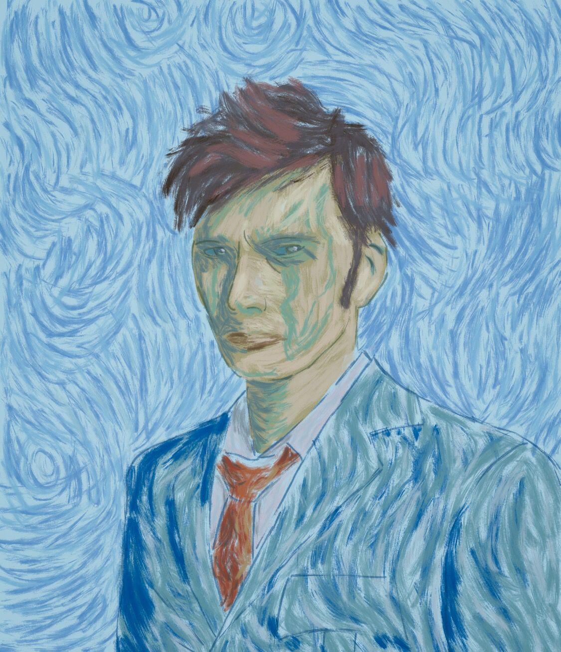 If Van Gogh painted Ten!  #DoctorWho