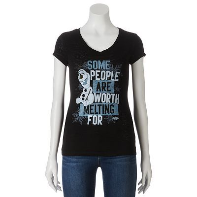 "Disney Frozen ""Some People Are Worth Melting For"" Olaf Tee - Juniors"