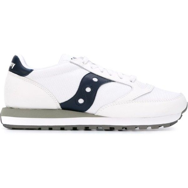 Saucony 'Jazz original' sneakers ($74) ❤ liked on Polyvore featuring men's fashion, men's shoes, men's sneakers, shoes, white, mens white sneakers, mens white leather shoes, saucony mens shoes, mens leather shoes and mens leather sneakers